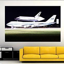 Wallhogs PFP Space Shuttle Atlantis Glossy Wall Mural; 31'' H x 48'' W x 0.1'' D