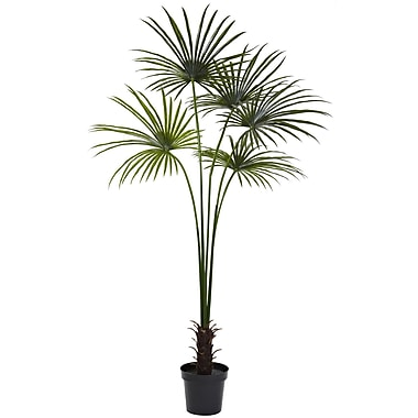 Nearly Natural Fan Palm Tree in Pot