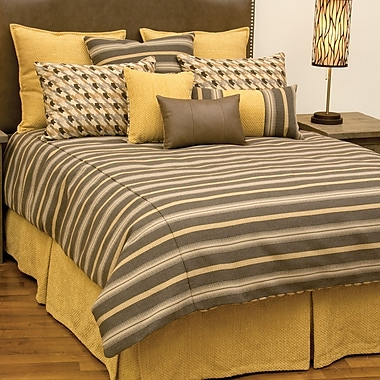 Wooded River Hayfield Duvet Cover Set; Queen