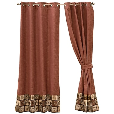 Wooded River Single Single Curtain Panel