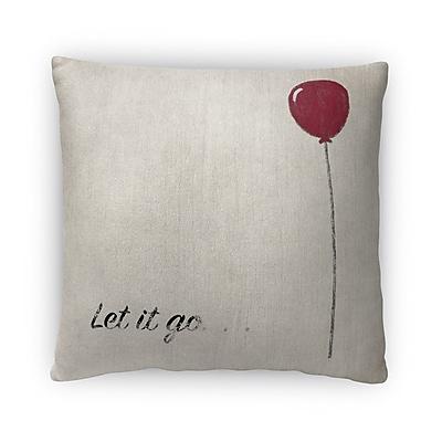 Kavka Let It Go Fleece Throw Pillow; 16'' H x 16'' W x 4'' D