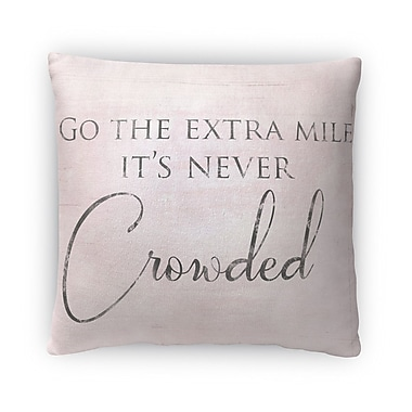 Kavka Never Crowded Fleece Throw Pillow; 18'' H x 18'' W x 4'' D