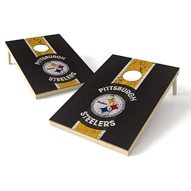 Tailgate Toss NFL Heritage Cornhole Game Set; Pittsburgh Steelers
