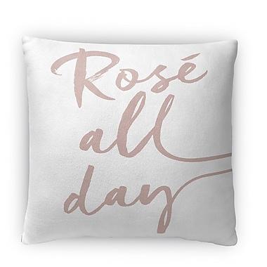 Kavka Rose All Day Fleece Throw Pillow; 18'' H x 18'' W x 4'' D