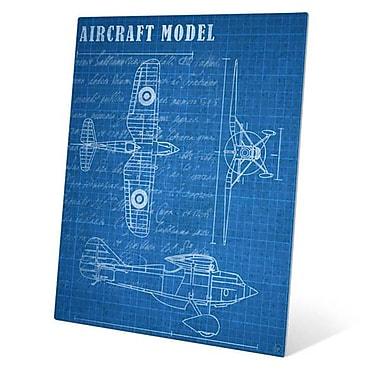 Click Wall Art ''Aircraft Blueprint'' Graphic Art; 24'' H x 20'' W x 0.04'' D