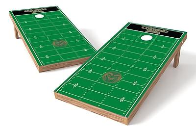 Tailgate Toss NCAA Football Field Cornhole Game Set; Colorado State Rams