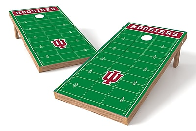 Tailgate Toss NCAA Football Field Cornhole Game Set; Indiana Hoosiers