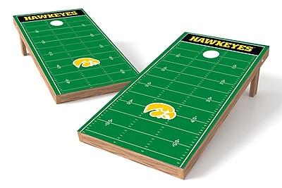 Tailgate Toss NCAA Football Field Cornhole Game Set; Iowa Hawkeyes