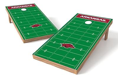 Tailgate Toss NCAA Football Field Cornhole Game Set; Arkansas Razorbacks