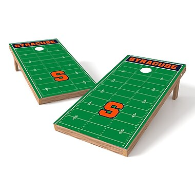 Tailgate Toss NCAA Football Field Cornhole Game Set; Syracuse Orange