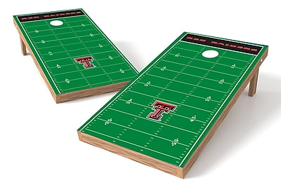 Tailgate Toss NCAA Football Field Cornhole Game Set; Texas Tech Red Raiders