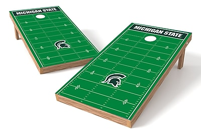 Tailgate Toss NCAA Football Field Cornhole Game Set; Michigan State Spartans