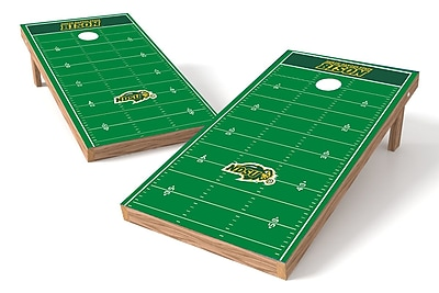 Tailgate Toss NCAA Football Field Cornhole Game Set; North Dakota State Bison