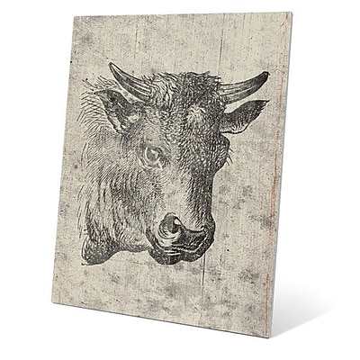 Click Wall Art ''Cow Drawing'' Painting Print; 24'' H x 20'' W x 1'' D
