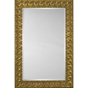 Mirror Image Home Mirror Style 6601 - Gold w/ Black Accent Transitional; 28 x 32