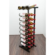 VintageView IDR Series 27 Bottle Floor Wine Rack; Satin Black