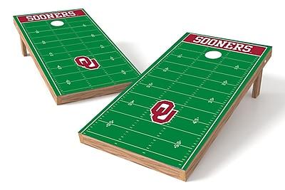 Tailgate Toss NCAA Football Field Cornhole Game Set; Oklahoma Sooners
