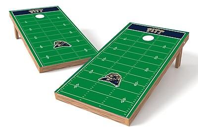 Tailgate Toss NCAA Football Field Cornhole Game Set; Pittsburgh Panthers