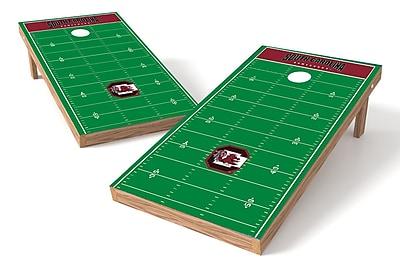 Tailgate Toss NCAA Football Field Cornhole Game Set; South Carolina Gamecocks