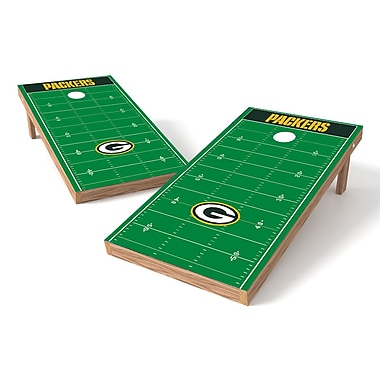 Tailgate Toss NFL Football Field Cornhole Game Set; Green Bay Packers