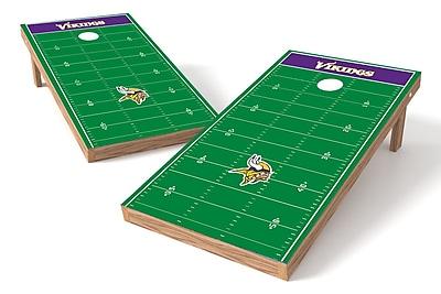Tailgate Toss NFL Football Field Cornhole Game Set; Minnesota Vikings