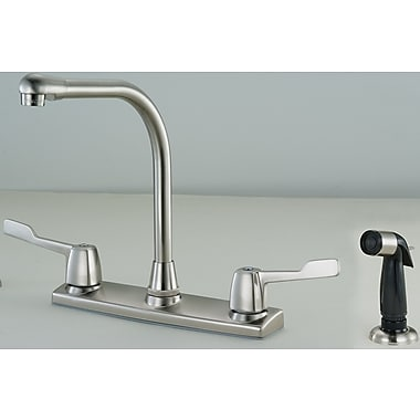 Hardware House Double Handle Deck Mounted Kitchen Faucet w/ Spray