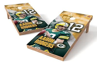 Tailgate Toss NFLPA Packers Aaron Rodgers Cornhole Game Set