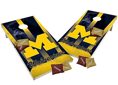 Tailgate Toss NCAA Shied Design Game Cornhole Set; Michigan Wolverines