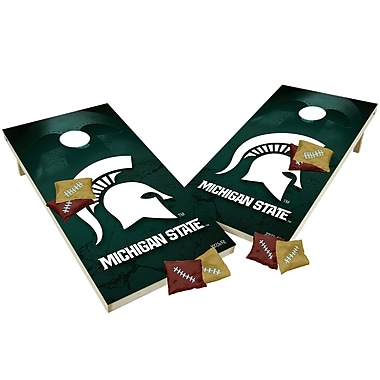 Tailgate Toss NCAA Shied Design Game Cornhole Set; Michigan State Spartans
