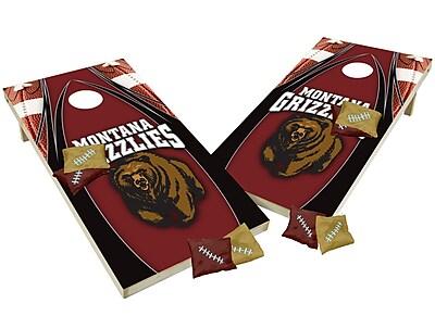 Tailgate Toss NCAA Shied Design Cornhole Game Set; Montana Grizzlies
