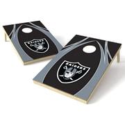 Tailgate Toss NFL Cornhole Game Set; Oakland Raiders