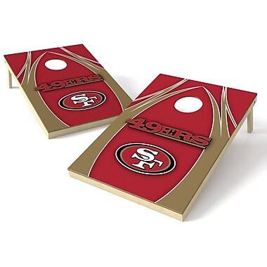 Tailgate Toss NFL Cornhole Game Set; San Francisco 49ers