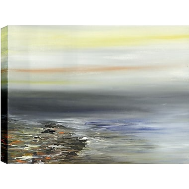 Hobbitholeco. Sand and Water Abstract' by Sanjay Patel Painting Print on Wrapped Canvas