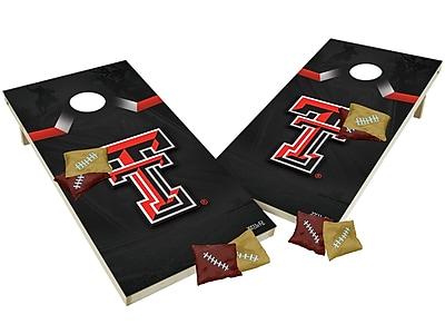 Tailgate Toss NCAA Shied Design Game Cornhole Set; Texas Tech Red Raiders
