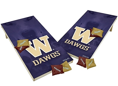Tailgate Toss NCAA Shied Design Game Cornhole Set; Washington Huskies