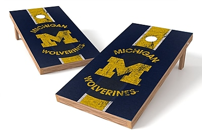 Tailgate Toss NCAA Game Cornhole Set; Michigan Wolverines