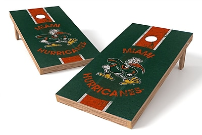 Tailgate Toss NCAA Game Cornhole Set; Miami Hurricanes