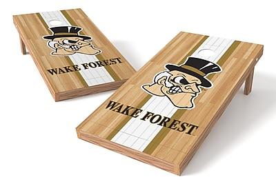 Tailgate Toss NCAA Hardwood Game Cornhole Set; Wake Forest Demon Deacons