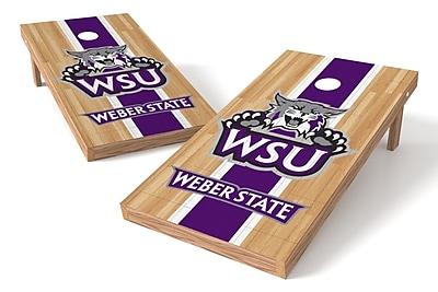 Tailgate Toss NCAA Hardwood Game Cornhole Set; Weber State Wildcats