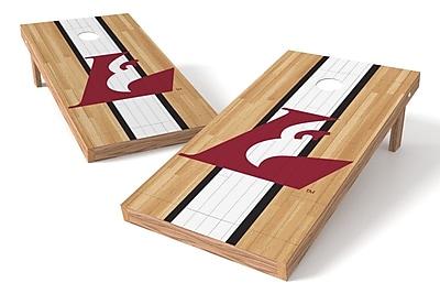 Tailgate Toss NCAA Hardwood Game Cornhole Set; Wisconsin-La Crosse Eagles