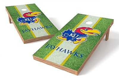 Tailgate Toss NCAA Field Game Cornhole Set; Kansas Jayhawks