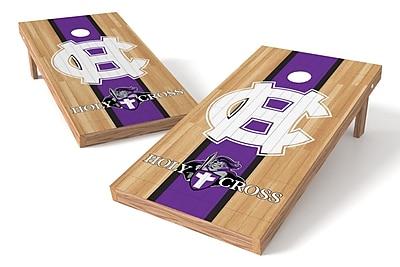 Tailgate Toss NCAA Hardwood Game Cornhole Set; Holy Cross Crusaders