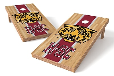 Tailgate Toss NCAA Hardwood Game Cornhole Set; Hampden-Sydney Tigers