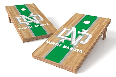 Tailgate Toss NCAA Hardwood Game Cornhole Set; North Dakota Fighting Hawks