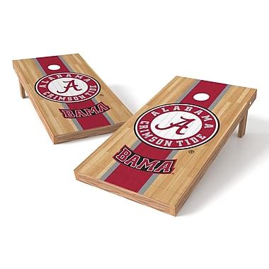 Tailgate Toss NCAA Hardwood Cornhole Game Set; Alabama Crimson Tide