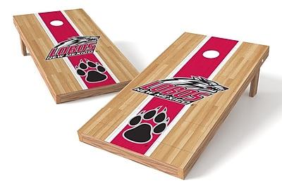 Tailgate Toss NCAA Hardwood Game Cornhole Set; New Mexico Lobos