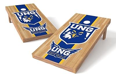 Tailgate Toss NCAA Hardwood Game Cornhole Set; North Georgia Nighthawks