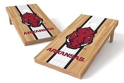 Tailgate Toss NCAA Hardwood Game Cornhole Set; Arkansas Razorbacks