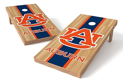 Tailgate Toss NCAA Hardwood Game Cornhole Set; Auburn Tigers