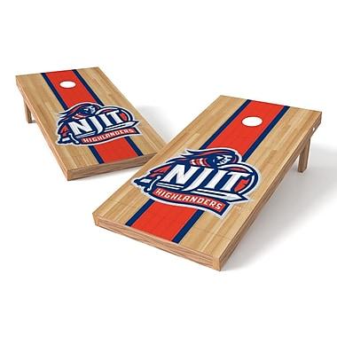 Tailgate Toss NCAA Hardwood Cornhole Game Set; NJIT Highlanders